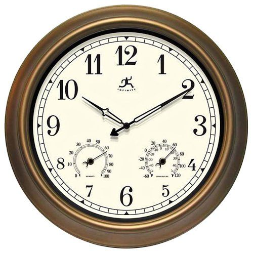 Infinity Instruments: The Craftsman 18 in. Outdoor Wall Clocks - Outdoor Clocks at Hayneedle