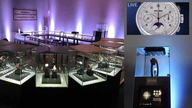 La montre-bracelet la plus chère du monde pour la vente aux enchères de Phillips à l'hôtel La Réserve, Genève.