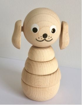 Wooden Stacking Dog #woodentoys #woodendecor #woodenstacking #woodenbuildups #woodendog #kidsroom #nursery #oliverthomas