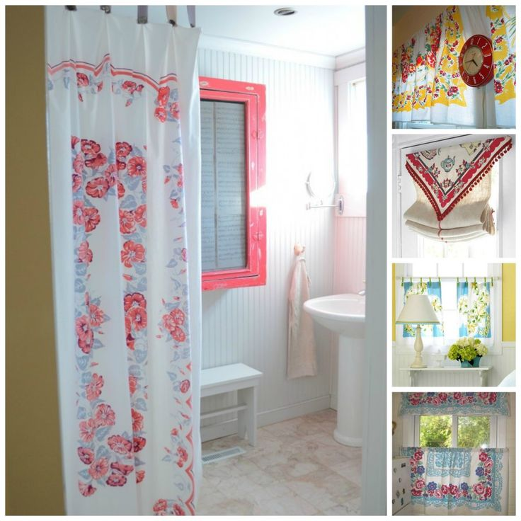 Curtains Made From Tablecloths | Vintage Tablecloth Curtains
