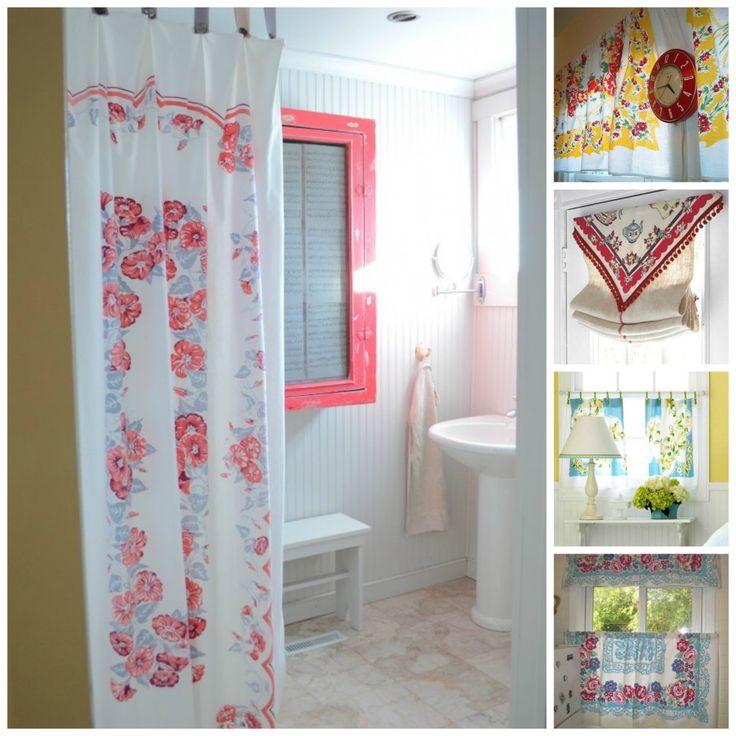 25+ Best Ideas About Vintage Shower Curtains On Pinterest
