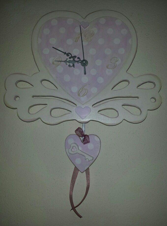 Orologio Cuore inciso con pendolo