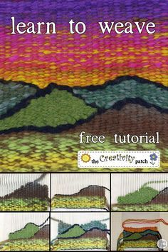 Want to give weaving a try? You can learn to weave without even buying a loom, I'll show you how! #fiberarts                                                                                                                                                                                 More