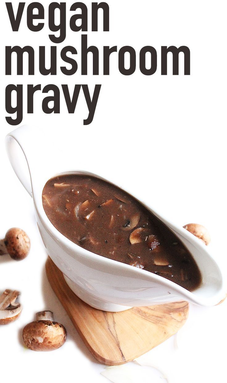 Starting to plan your vegan Thanksgiving meal? Make sure to make this Vegan Portobello Mushroom Gravy a part of it! Click the photo for the full recipe.