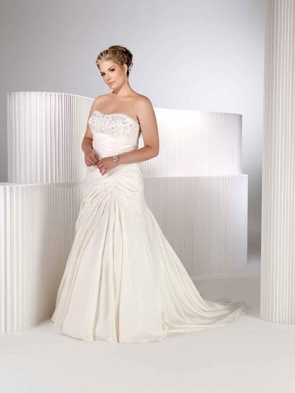 Natural waist chapel train sleeveless taffeta elegant bridal gown