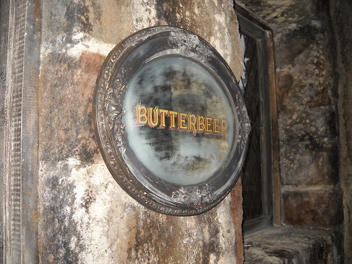 Butterbeer is one of the drinks in the Harry Potter series and is at the Wizarding World of Harry Potter, too. Wish I could have some!