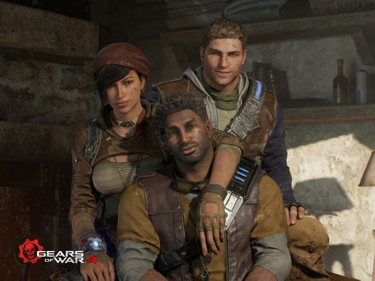 Gears of War 4; JD Fenix, Kait, and Del