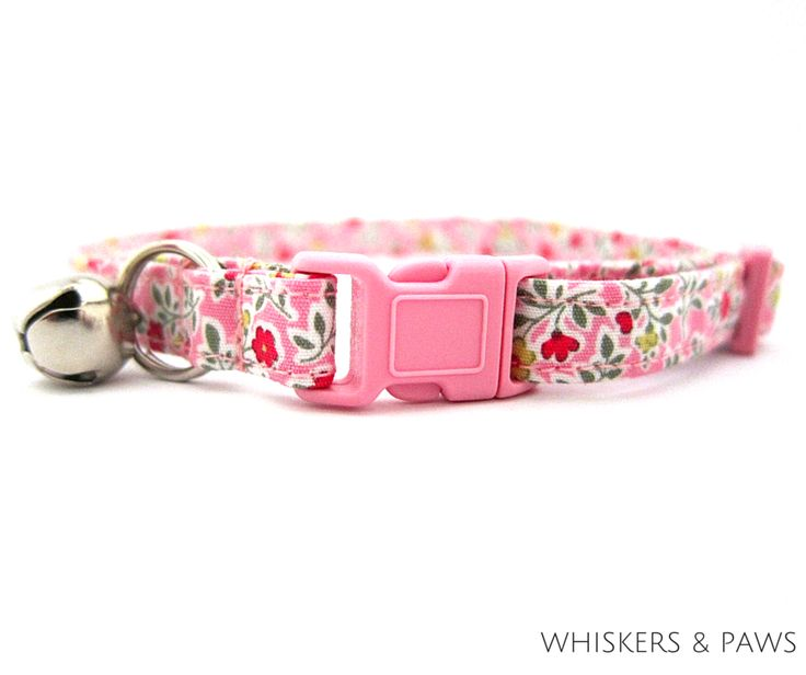Wildflowers In Pink Cat Collar