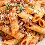 Quick Three Meat Penne Ragu