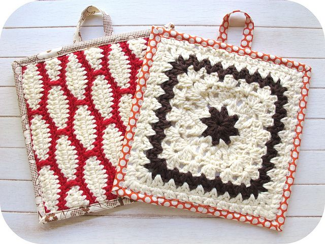 crochet pot holders with sewing