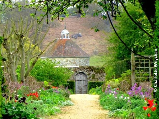 View of the Dove Cote at Parham House & Gardens, West Sussex