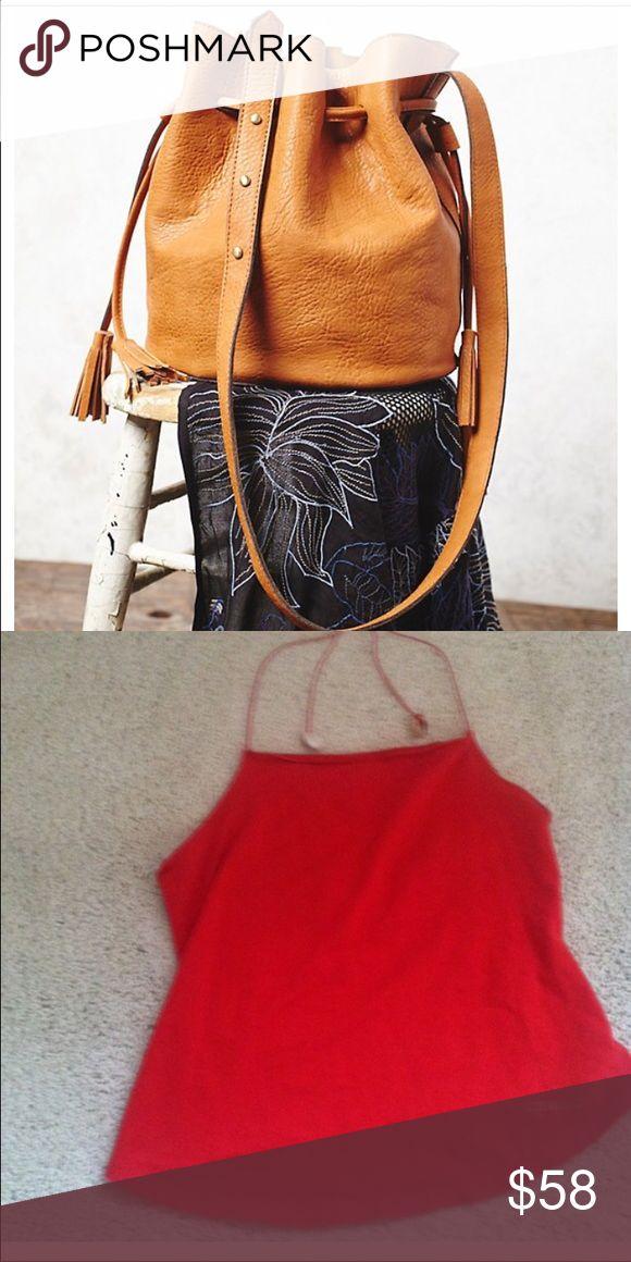 Bundle for @lonslons New Free people Bleeker bucket handbag & red used iceberg jeans halter. Other