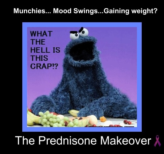 """WooooW! """"The Prednisone Makeover""""     """"Freaking hilarious!! Hate 'roids' was on them starting at dx (4 years old) until I was 15! """"  CIDP"""