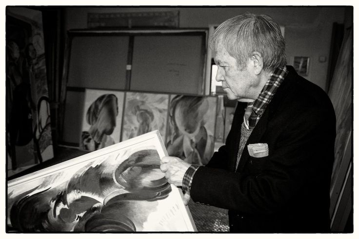 Umberto Buscioni nel suo studio, 2006.