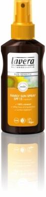 Lavera Φυτικό/Οργανικό Αντιηλιακό Γαλάκτωμα για Όλη την Οικογένεια σε σπρέυ SPF 15