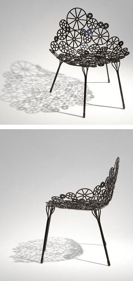 Metal #chair ESTRELA by A Lot Of Brasil   #design Estudio Campana