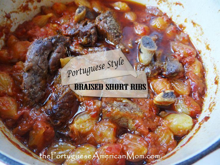Portuguese Style Braised Short Ribs (Pequenas Costeletas Refogadas)
