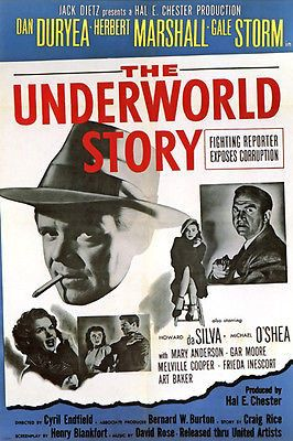 THE UNDERWORLD STORY (1950) film noir MOVIE poster REPORTER corruption RARE NEW 24X36