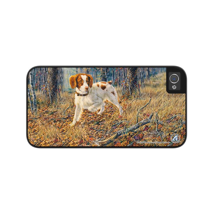 "Airstrike® Brittany Spaniel iPhone 5s Case, Brittany Spaniel Phone Case, Brittany Spaniel Dog Phone Case, iPhone Protective Case ""Scent Savvy"" 50-5349"