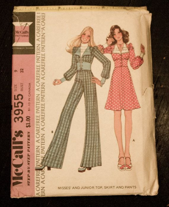 1974 McCalls Step-By-Step Pattern 3955  Misses by PeachCityVintage