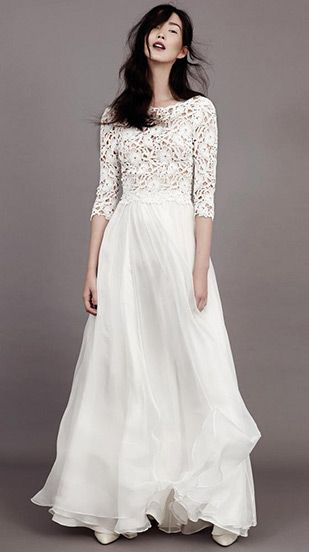 Florence sleeved wedding dress by Kavier Gauche ~ www.onefabday.com