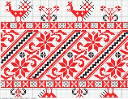 Embroidery, counted cross párnavég