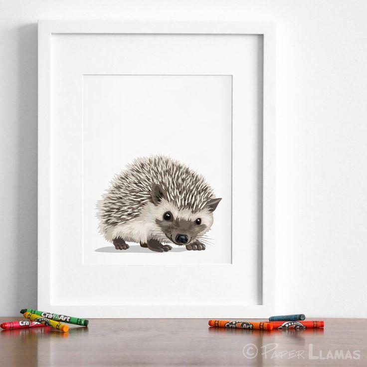 Hedgehog art, woodland nursery artwork, baby forest animal print, childrens hedgehog ilustration - hedgehog nursery art by PaperLlamas on Etsy https://www.etsy.com/ca/listing/464085636/hedgehog-art-woodland-nursery-artwork