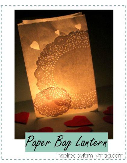 paper bag lantern - classy in minutes