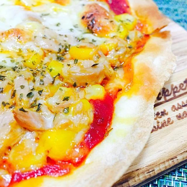 ツナコーンピザ作ってみました☆ - 8件のもぐもぐ - ツナコーンピザ♡ by fumfumbonba68