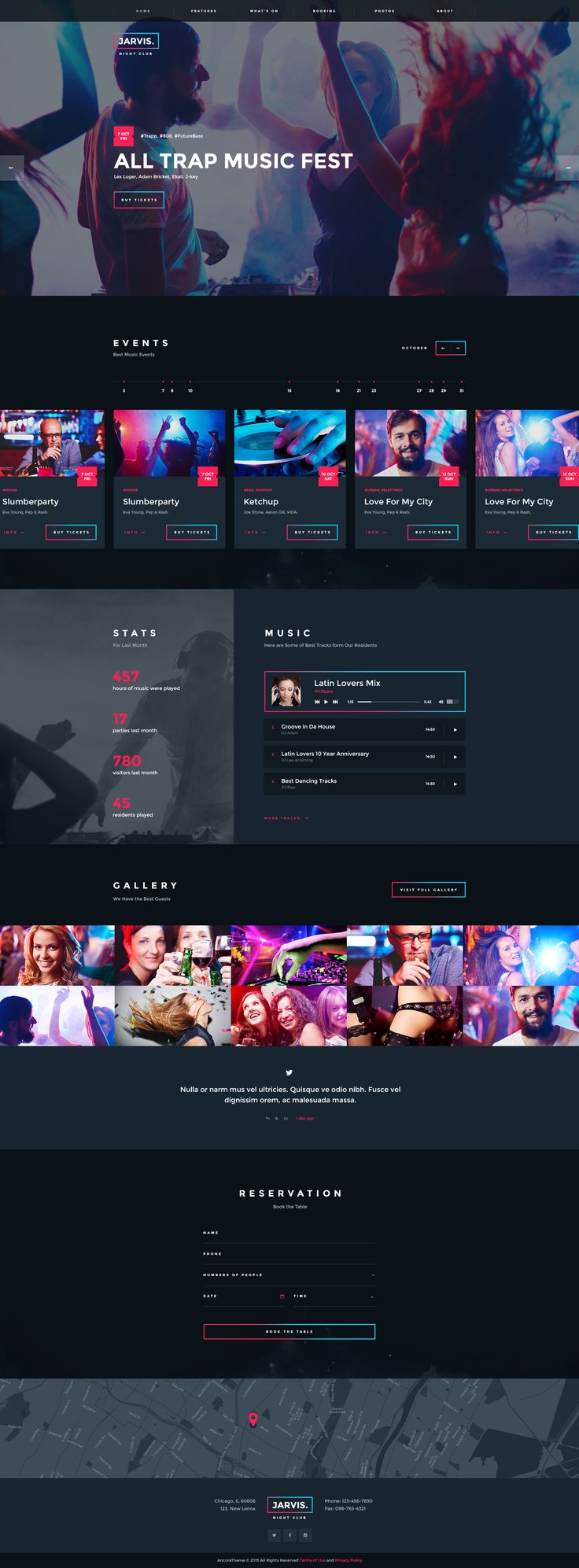 Jarvis - Night Club, Concert, Festival WP Theme #wordpress #musician #visual composer • Download ➝ https://themeforest.net/item/jarvis-night-club-concert-festival-wp-theme/14397077?ref=pxcr