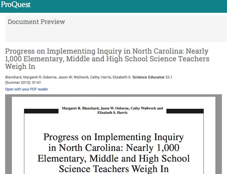 Progress on Implementing Inquiry in North Carolina: Nearly 1, 000 Elementary, Middle and High School Science Teachers Weigh In