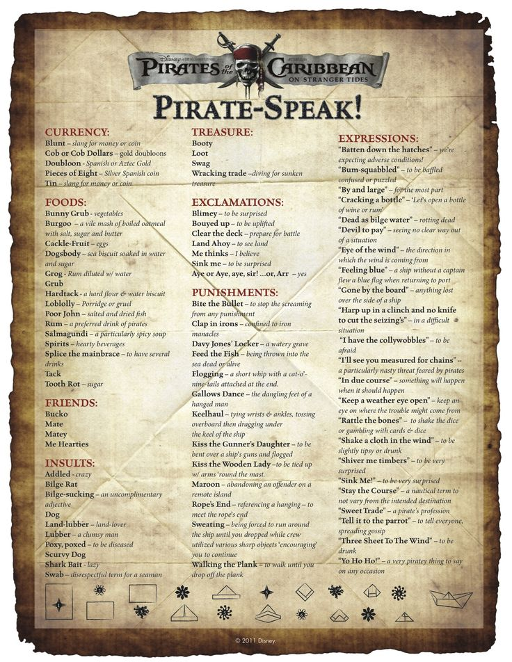 National Talk Like A Pirate Day; 19 September