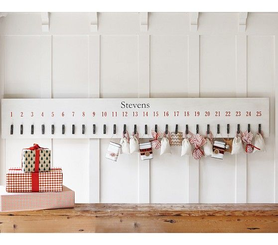 Jumbo Clothespin Advent Calendar | Pottery Barn Kids - I am SO making this!  Easy, and so cute!