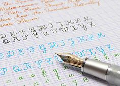 Learning French cursive...(create copywork pages here: http://cursivecole.fr/ecriture1.php) #homeschool