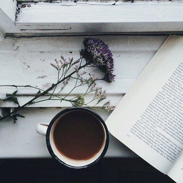 #Flower #Coffee #Book #Reading #BetterBeAtHome #Bright #White