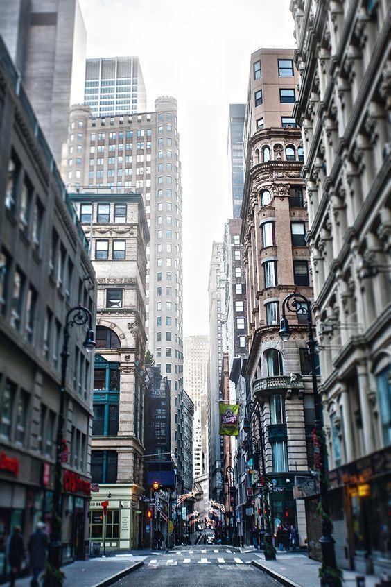 """Down town"", downtown Manhattan, New York City by Alik Mos"