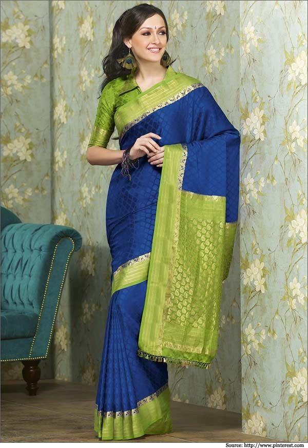 Gorgeous blue green mysore silk sarees. #mysoresilksaree #sarees #southindiansarees