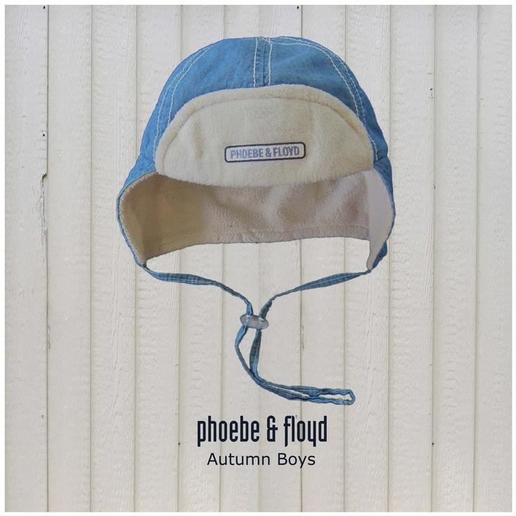 Phoebe & Floyd Denim Pilot Hat lined with Stone Polar Fleece (www.phoebeandfloyd.co.za) #Phoebeandfloyd #Kidsclothing
