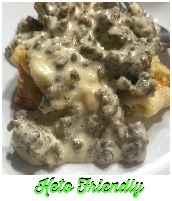 Keto Sausage Biscuits And Gravy Recipe Low Carb Biscuit Food