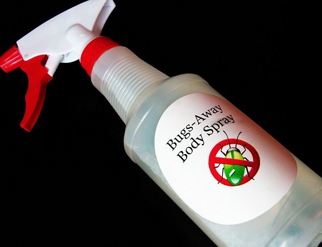 homemade bug spray- we do this with witch hazel and tea tree oil and it works well
