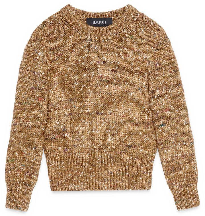 Gucci Wool-alpaca blend mélange knit top
