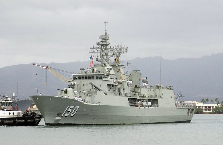 """HMAS Anzac (FFH 150) is the lead ship of the Anzac class frigates in use with the Royal Australian Navy (RAN) and the Royal New Zealand Navy (RNZN). Anzac was launched on 16 September 1994 and entered Australian service in 1996. She was deployed to East Timor as part of the Australian-led INTERFET peacekeeping taskforce from 19 to 29 September 1999. The ship was later awarded the battle honour """"East Timor 1999"""" in recognition of this deployment."""