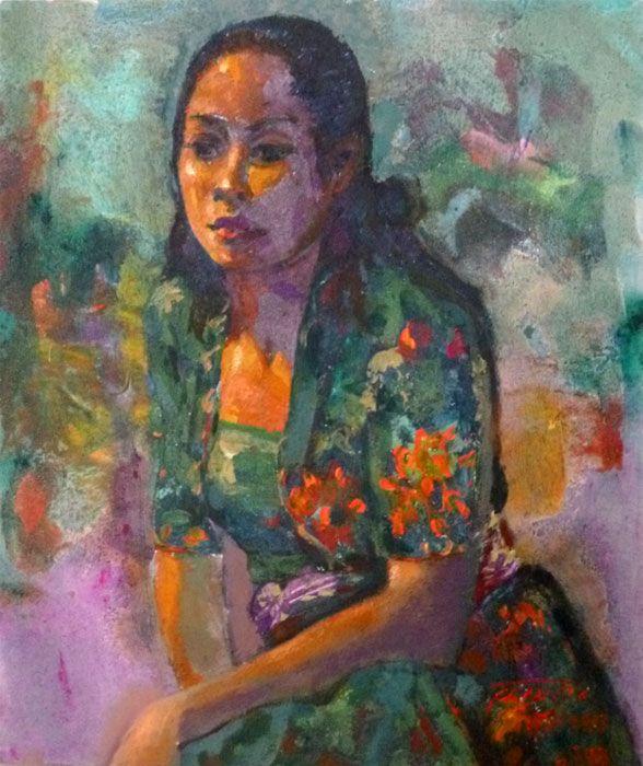 Pranoto - Wanita Bali Berkebaya Hijau