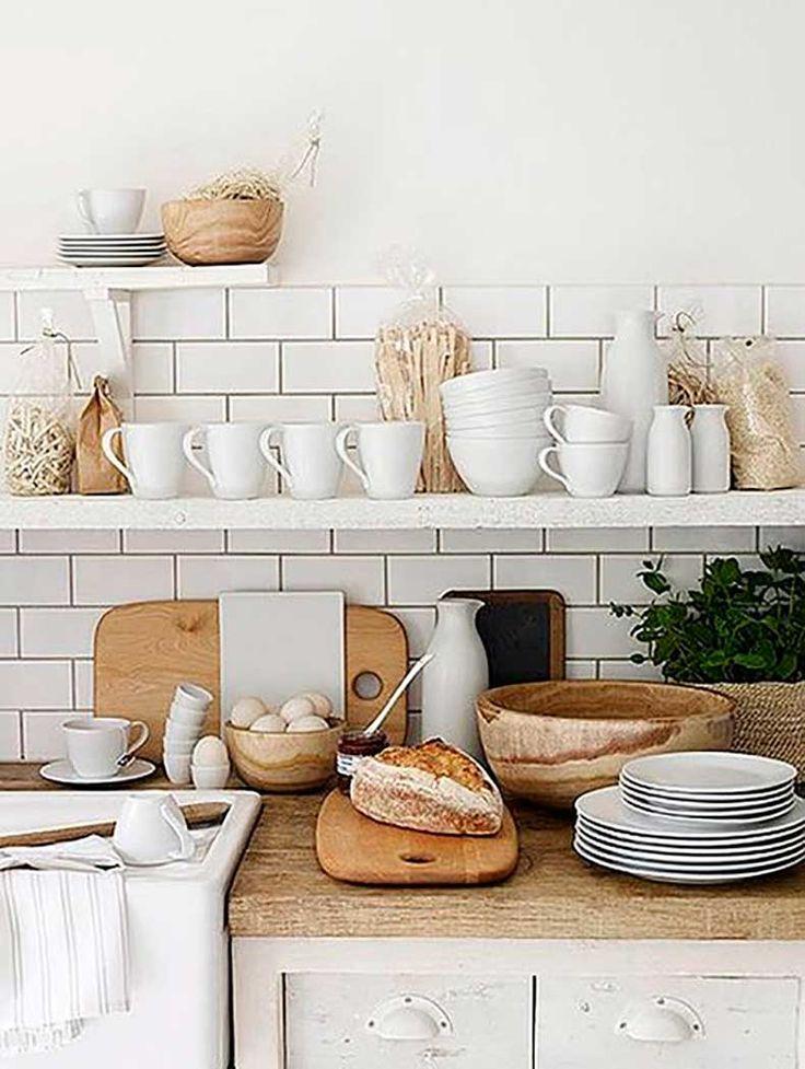 Inspiración Para Cocinas: Estanterías Abiertas