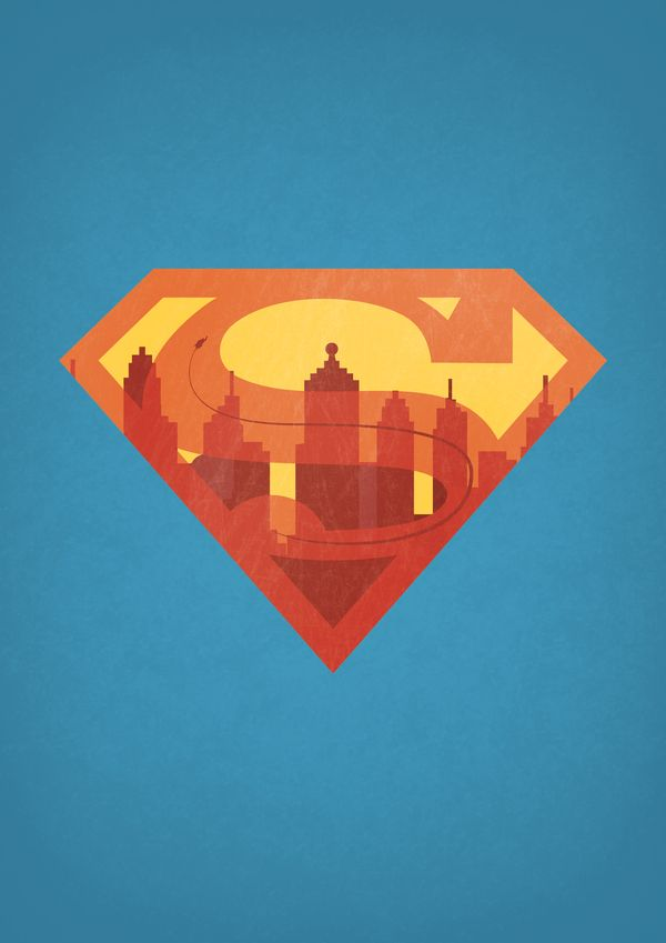 DC/Marvel Superhero Cityscape Logos by Alex Litovka