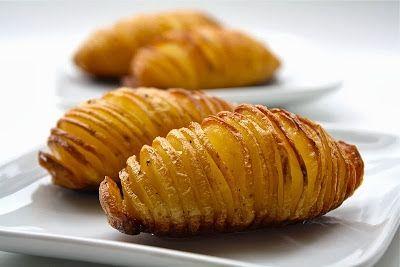 Hasselbacks Potatis (Zweedse Hasselback Aardappelen recept | Smulweb.nl