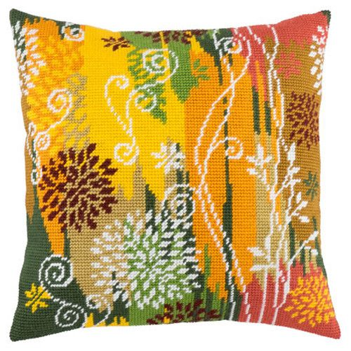 Autumn Day pillowcase cross stitch DIY embroidery kit