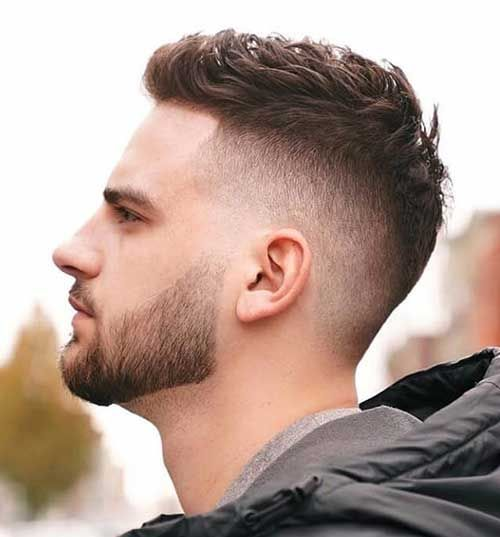 Short Fade Haircut - Best Men's Hairstyles: Cool Haircuts For Men. Most Popular Short, Medium and Long Hairstyles For Guys Stylish Short Haircuts, Cool Hairstyles For Men, Cool Haircuts, Hairstyles Haircuts, Haircuts For Men, Haircut For Guys, Formal Hairstyles Men, Funky Hairstyles, Medium Hairstyles