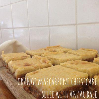 Orange Mascarpone Cheesecake with Anzac base | Omnom Cheese Making | Sydney