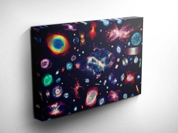 Hubble 100 Nebulas Universe Outer Space by DareToDreamPrints
